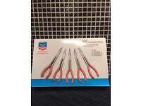 """5pc 11"""" long reach plier set.( tools )"""