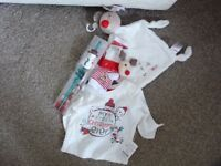 Newborn/ Christmas bundle. Shirt, socks, toy etc
