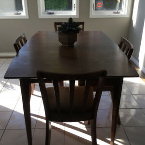 Solid wood dining table anf chairs