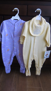 NEW w/Tags - 2 Snugabye Convert-a-Foot Outfits Worth Over $30