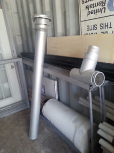 Furnace b-vent and insulation pipe T for sale