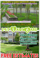 24/7 LawnCare SAME DAY Lawn Mowing Weed Removal FREE ESTIMATES