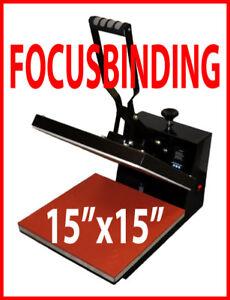 15x15 Digital Heat Press, Sublimation Transfer PU Vinyl, Plotter