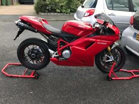 Ducati 1098s with termi exhausts