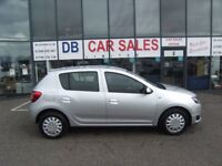 32K MILES! 2013 63 DACIA SANDERO 1.1 LAUREATE 5d 75 BHP **** GUARANTEED FINANCE **** PART EX WELCOME