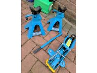 hydraulic car jack and axle stand set