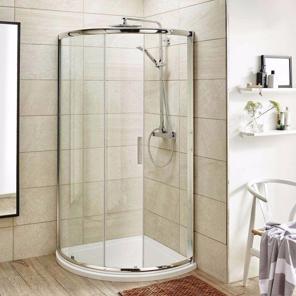 Premier 850 X 850mm Single Entry Quadrant Shower Enclosure And Tray