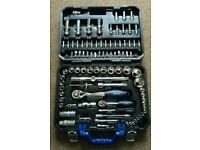 """94pc socket set with 1/4"""" and 1/2"""" ratchets and sockets"""