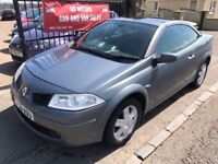 2006 RENAULT MEGANE CONVERTIBLE, WARRANTY, NOT FOCUS 207 GOLF MICRA POLO