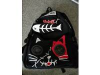 Living Dead Gothic Cat Backpack with Speakers iPhone Samsung iPod