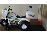 Child's electric police bike