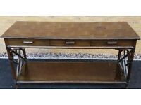 Bamboo Sideboard with glass top - £40 ONO