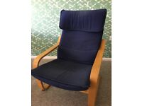 Ikea Poang chair with beech frame. Used. Would be good in a conservatory.
