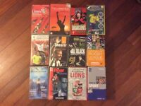 Collection of sports VHS videos