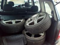 4 low profile tyres and alloys