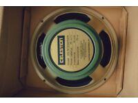 "2x Celestion G12 M Greenback 12"" speakers"