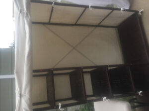 Two Rattan and Canvas wardrobes, $30 each or best offer