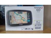 SatNav: Tomtom Go 5000 - UK & European Maps and Free Lifetime Traffic - Boxed