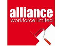 Painters & Decorators required - £13.50 per hour – Nottingham – Call Alliance 01132026050