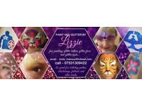 Face Painting - Glitter Tattoos - Glitter faces and hair - Birthday parties and events