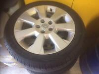 Vauxhall Astra 17' alloys 5 stud good tyres