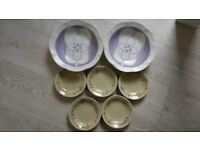 Japanese Sumo entertaining plates set (used)
