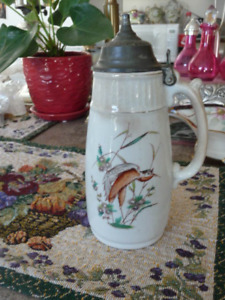 Beautiful Fine  English Porcelain Antique Syrup Jug From 1872