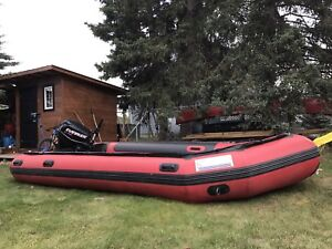 16 foot Zebec Inflatable with 30 hp ETEC