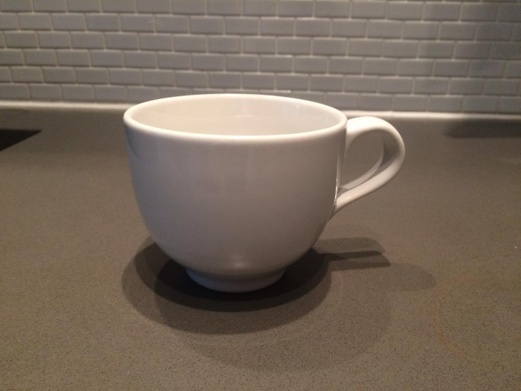 6 IKEA Large White Teacups