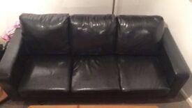 Black 3 Seater Sofa