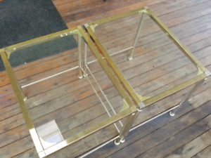 Glass Coffee Tables Set of 2