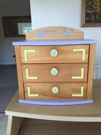 Miniature Bear factory chest of draws