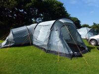 Vango Kura 800 DLX Tent, includes awning, camping stove and stand. Excellent condition.