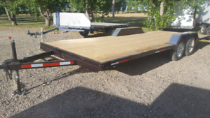 Brand new  21 foot tandem flat deck trailer for sale.