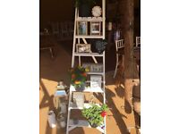 Wedding decorative wooden white ladders