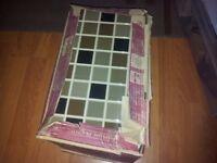 1 BOX OF PORCELANOSA MULTICOLOR MOKA WALL TILES 18 IN BOX EACH 30cm x 20cm APPROX