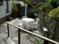 Holiday Caravan St Breward Cornwall Gated Walled Garden Dogs Welcome sleeps4 Dates from Wed 30th Aug