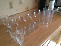 Selection glasses good condition wine sherry beer spirit