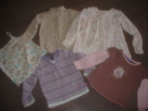 Lot of 5 Girls top by Oshkosh, Baby Gap, Greendog 4-5 Years