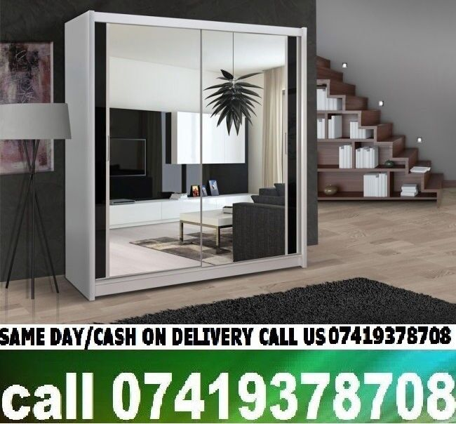 Chikargo Sliding Two and Three Door Wardrobes With Hanging Rails and Storage Shelvesin Barking, LondonGumtree - plz call us 07903198072SPECIFICATIONS Multiple storage shelves and hanging rail Variety of colours and sizes Includes full instructions and tools for home assembly Professional assembly service available at extra costDIMENSIONS Height 215cm Depth...