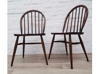 Pair Of Ercol Dining Chairs (DELIVERY AVAILABLE)