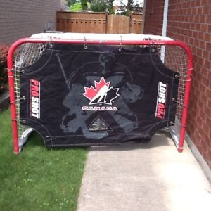 Large Outdoor Hockey Net with Goalie Man