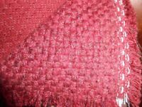 ROLL OF UPHOLSTERY BURGUNDY FABRIC