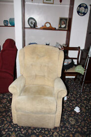 A riser recliner chair with elelctric motor which offers independence, exceptional comfort