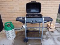 2 Burner Gas BBQ with side burner + Gaslight Propane