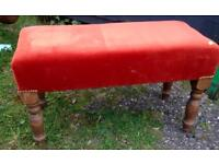 Upholstered Bedroom Bench in Burnt Orange colour