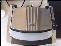 Used Breville 3 slice sandwich / panini maker toaster