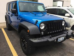 2016 Jeep Wrangler Unlimited WILLYS | ONE OWNER | BLUE-TOOTH | L