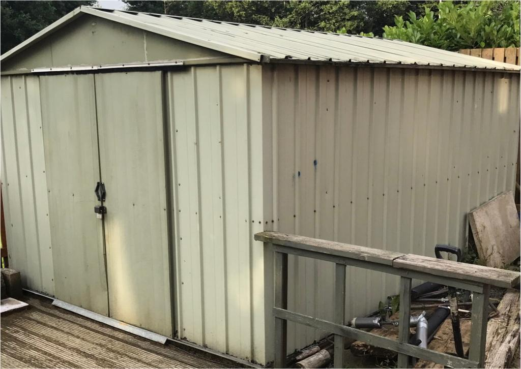 3m x 4m metal shed hut