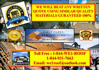 GATINEAU ROOFING BEST QUALITY JOBS AFFORDABLE PRICES FREE QUOTE